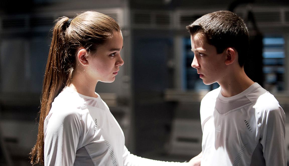 Una scena di Ender's Game