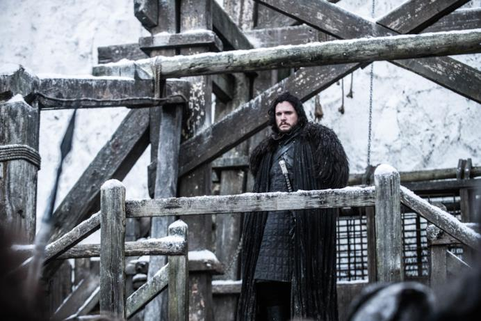 Jon a Castello Nero nell'episodio di GoT 8x06, The Iron Throne