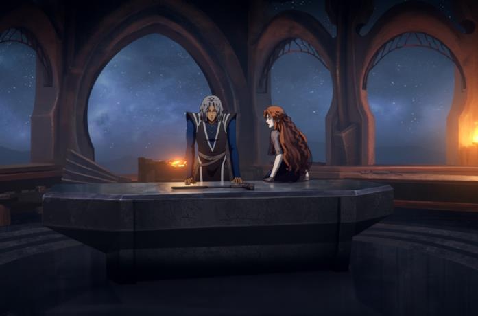 Hector e Lenore stanno discutendo all'interno di una grande stanza