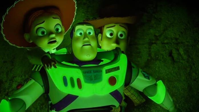 I protagonisti spaventati da Toy Story of Terror