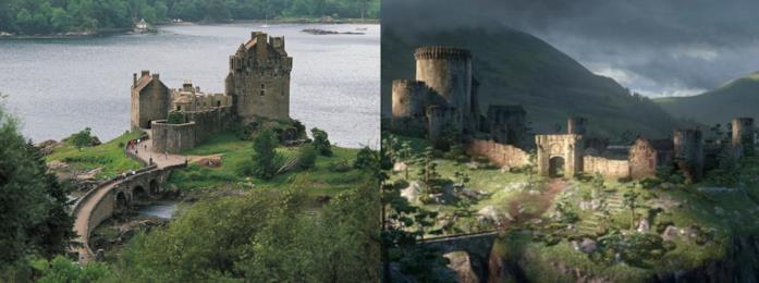 Il castello di Eilean Donan e il castello del film Brave - Ribelle a confronto