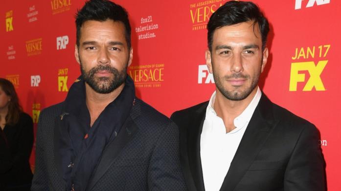 La coppia Ricky Martin e Jwan Yosef freschi di matrimonio