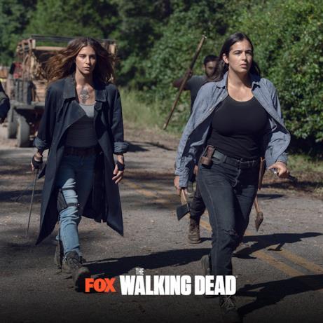 Dai nuovi episodi di The Walking Dead 9, una scena con Magna e Tara