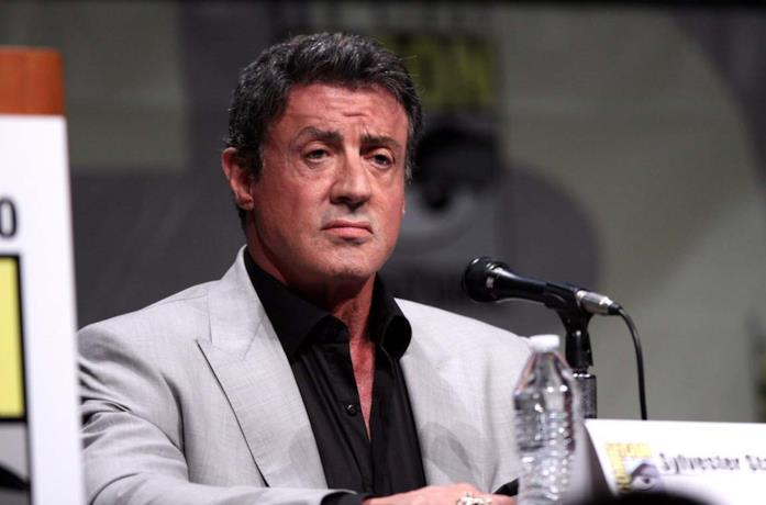 Sylvester Stallone in conferenza stampa