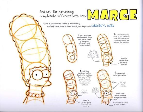 Marge nel tutorial per disegnare i Simpson nell'era digitale