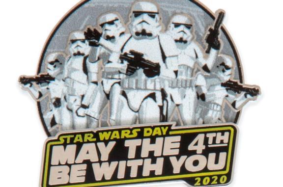 La pin con gli Stormtroopers per lo Star Wars Day 2020