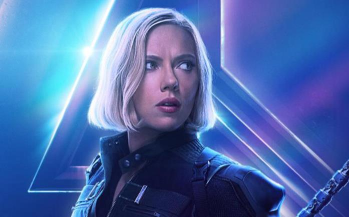 Character poster di Vedova Nera di Avengers: Infinity War