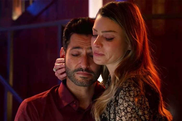 Una scena dal finale di Lucifer con l'addio tra il diavolo e Chloe