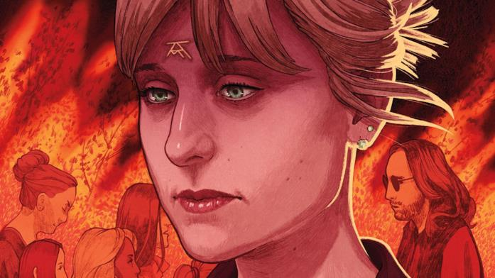 Allison Mack in un disegno che illustra la sua discesa all'inferno