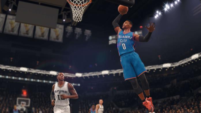 Azione in campo in NBA LIVE 18