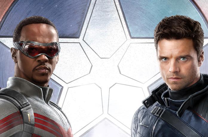 Anthony Mackie e Sebastian Stan, protagonisti di The Falcon and the Winter Soldier