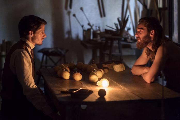 Antonio Folletto e Reinout Scholten van Aschat in una scena del film Capri-Revolution