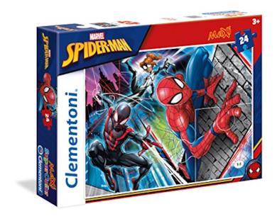 Clementoni- Spiderman Supercolor Puzzle, 24 Pezzi, 24497