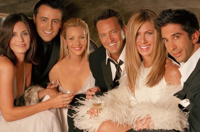 Il sorridente cast di Friends