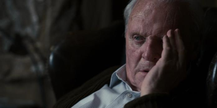 Anthony Hopkins turbato in the Father