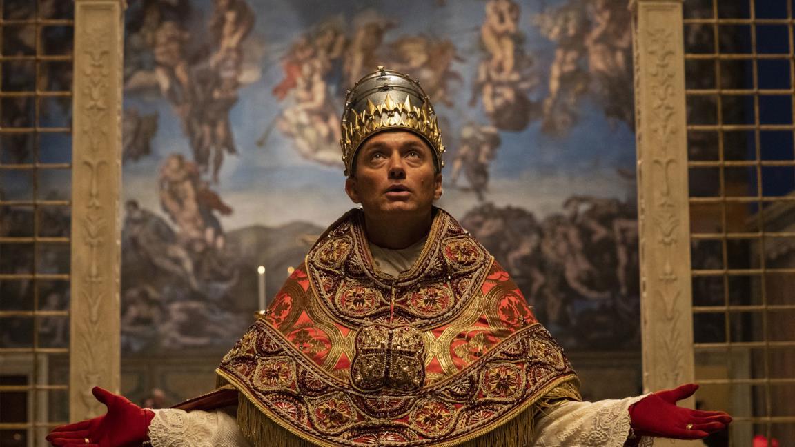 Una scena di The New Pope