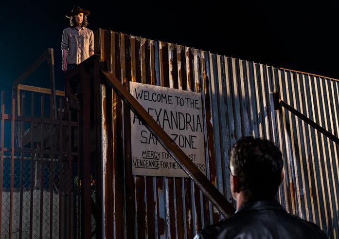 The Walking Dead: Carl e Negan