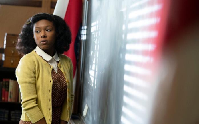 Ethelrida in classe nel primo episodio di Fargo 4