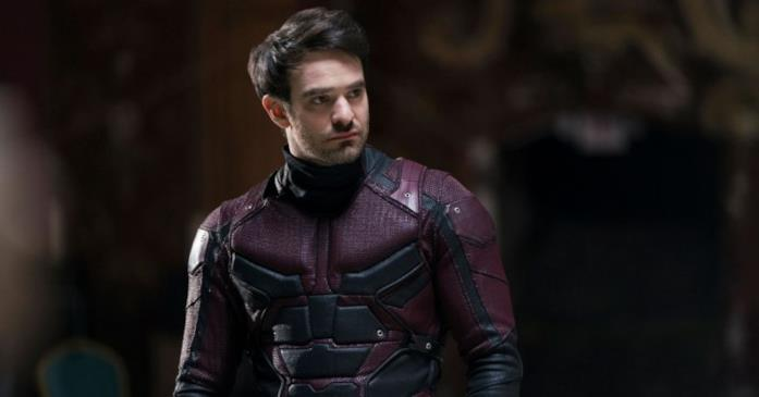Charlie Cox in uno scatto sul set di Daredevil