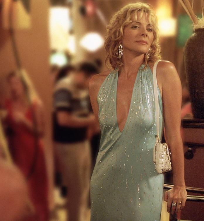 Samantha in abito azzurro in Sex and the City
