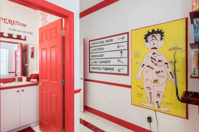La stanza ispirata al gioco L'allegro chirurgo