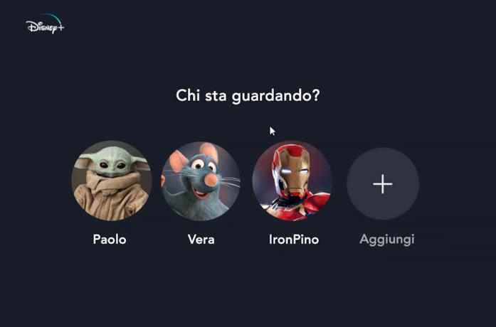 Alcune delle circa 200 icone profilo di Disney+