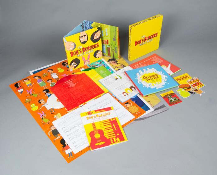 I contenuti del Deluxe Box Set di The Bob's Burgers Music Album