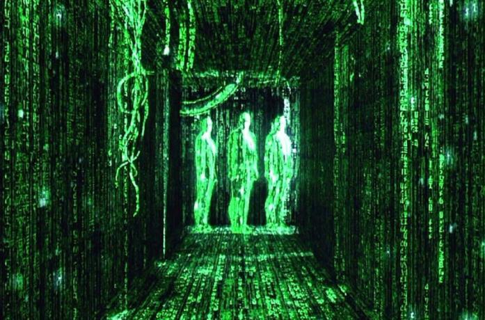 Una sequenza tratta da Matrix, film del 1999