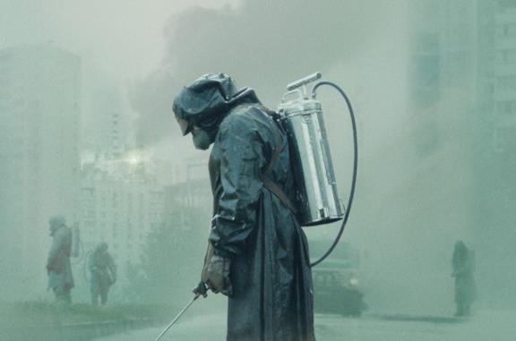 Una scena dalla serie TV Chernobyl di HBO