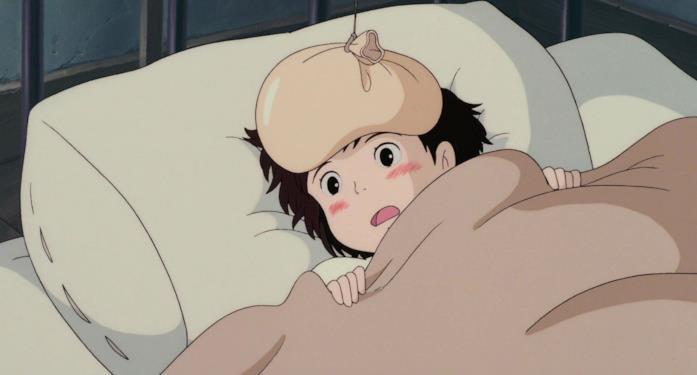 Kiki a letto con la febbre