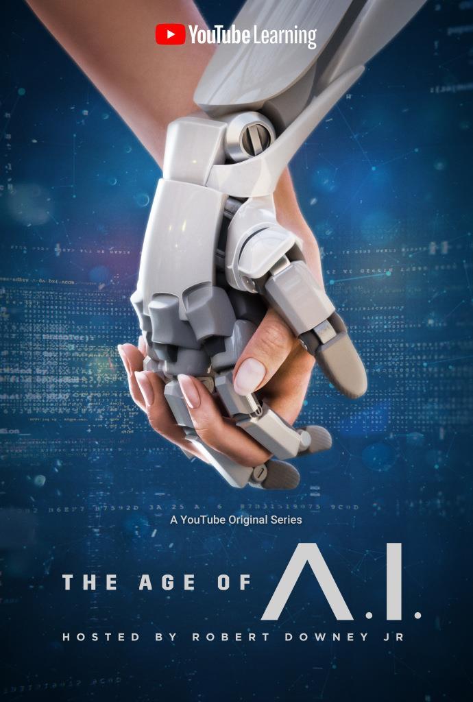 Il poster della docu-serie The Age of A.I.