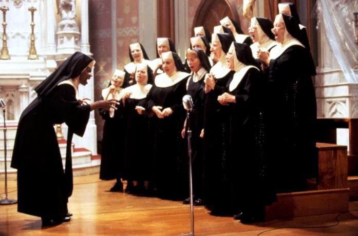 Una scena del film Sister Act