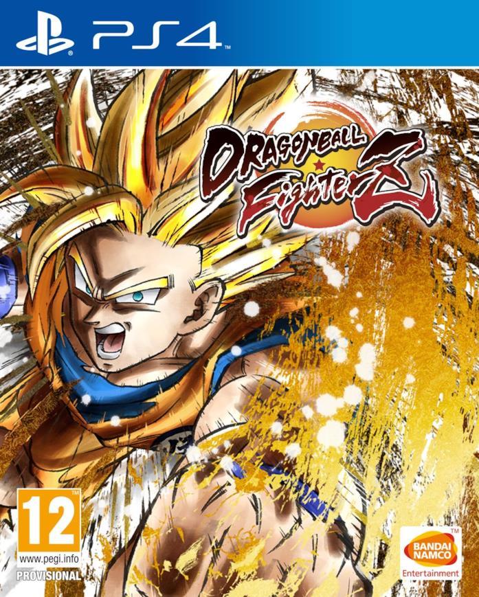 Goku in azione nella cover di Dragon Ball FighterZ