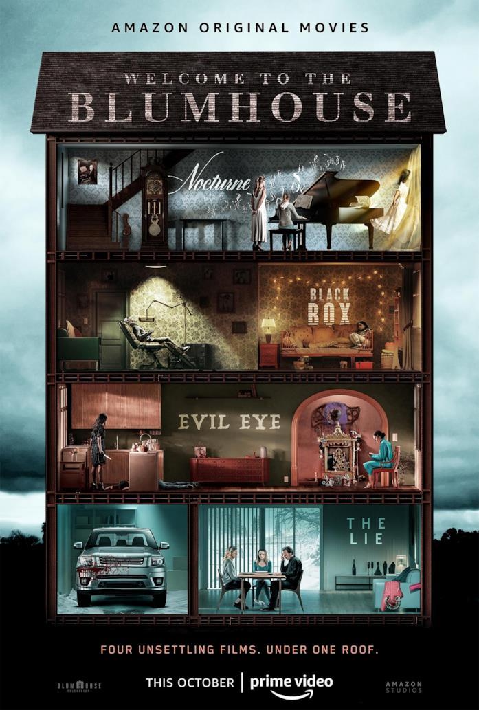 Il poster dell'antologia di Amazon Prime Video Welcome to Blumhouse