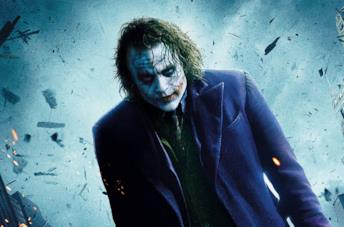 Heath Ledger come Joker ne Il cavaliere oscuro