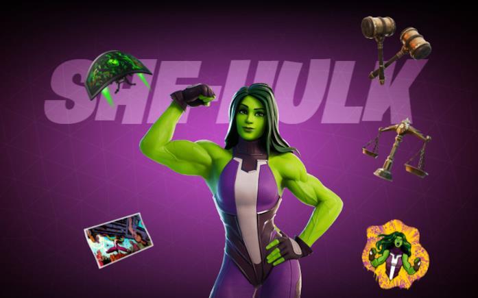 Immagine promozionale del costume di She-Hulk in Fortnite