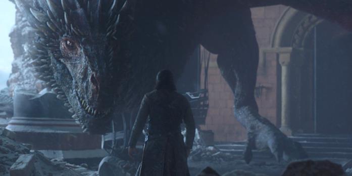 Drogon e Jon Snow in Game of Thrones 8x06