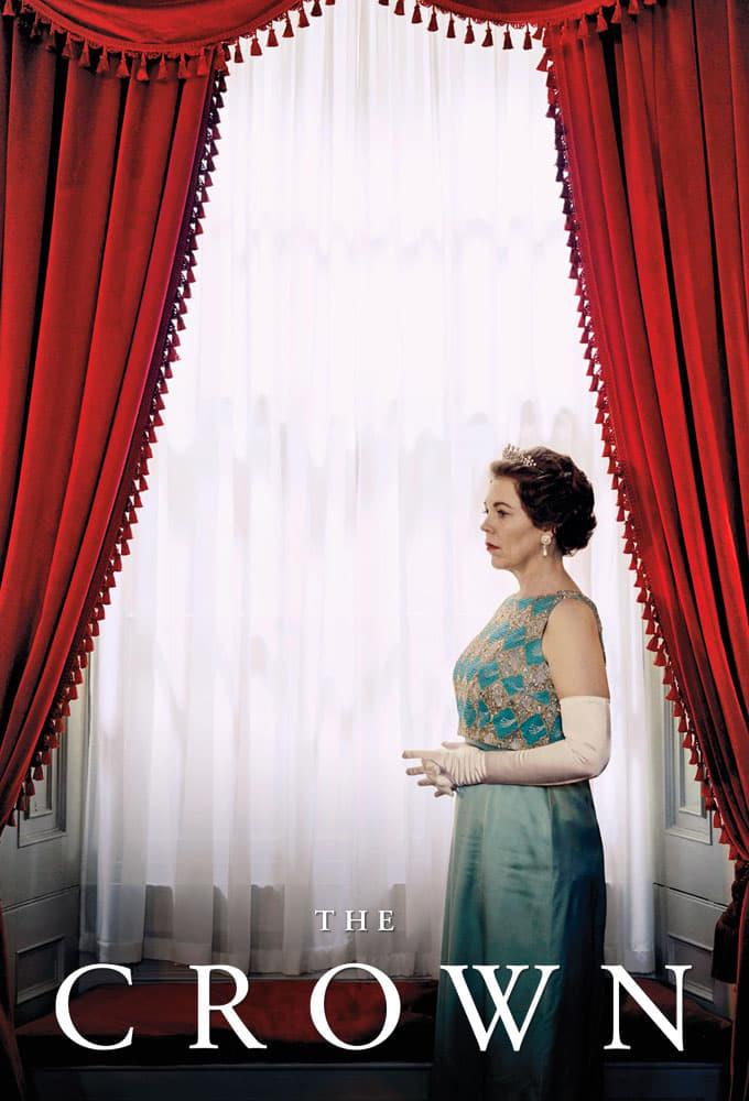 Olivia Colman nel poster di The Crown