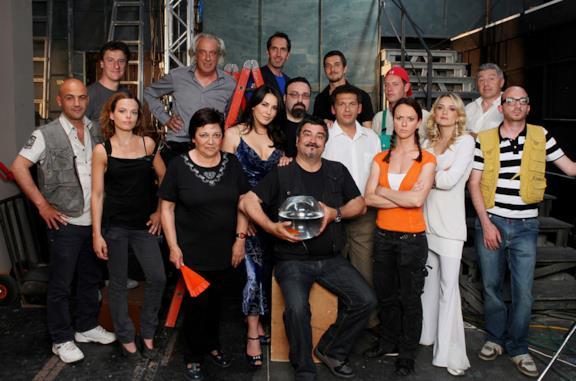 Il cast di Boris in una foto di gruppo