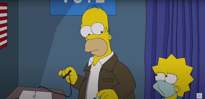 Homer e Lisa nella cabina elettorale