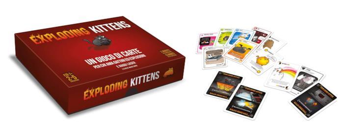 La scatola e le carte di Exploding Kittens