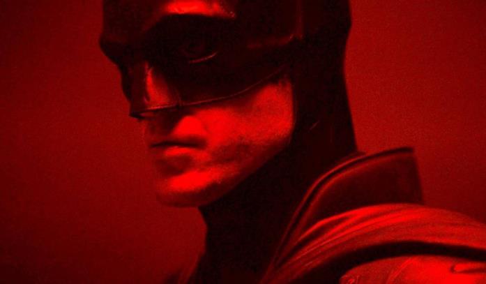 The Batman illuminato di rosso