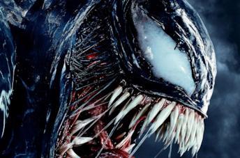 Il volto di Venom in un'immagine promozionale