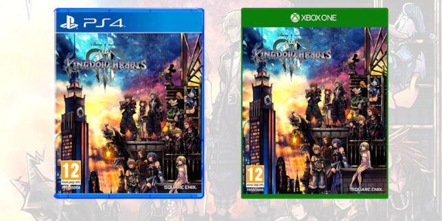 Le boxart di Kingdom Hearts III su Nintendo Switch