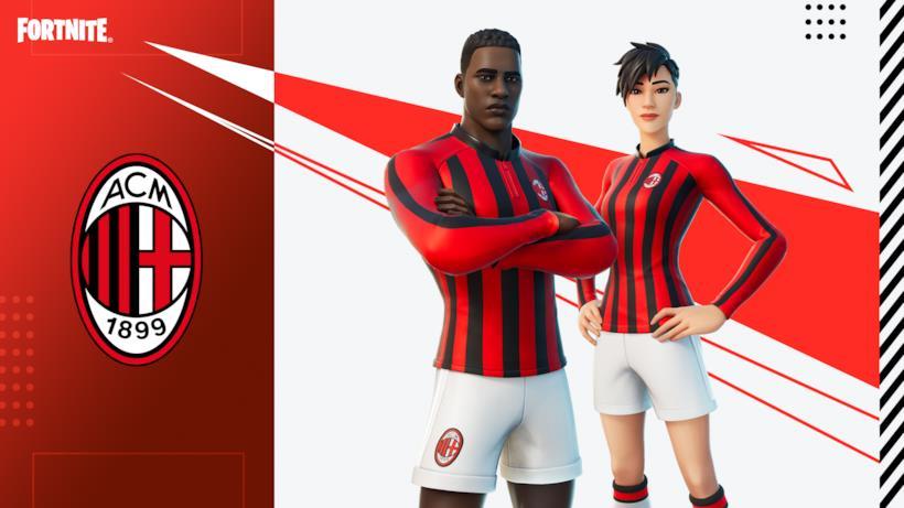 Immagine promozionale della skin a tema AC Milan di Fortnite