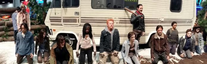 """Le undici """"civette"""" di Negan nell'installazione di The Walking Dead al Comic-Con"""