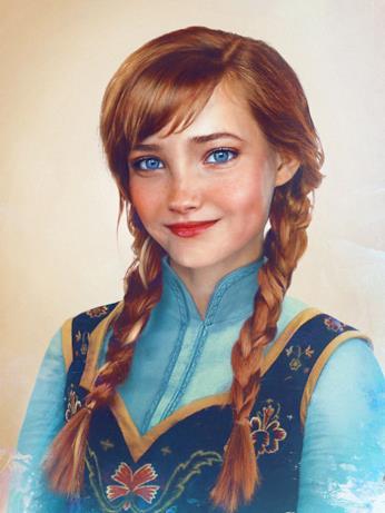 Dal cartoon Disney al mondo reale: Anna di Frozen