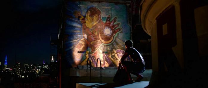 Iron Man su un murales