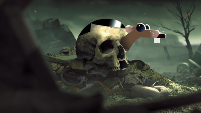 Un topo si nasconde all'interno del teschio di Hitler