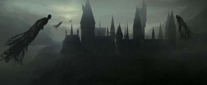 Una veduta di Hogwarts circondata da Dissennatori